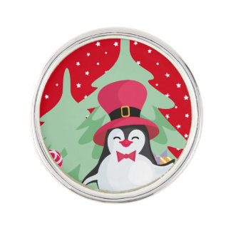 A Festive Penguin - 1 Lapel Pin