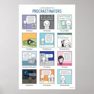A Field Guide to Procrastinators Poster