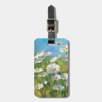 A Field of White Daisies Luggage Tag