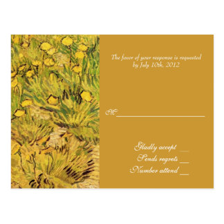 A Field of Yellower Flowers, Vincent Van Gogh Postcard