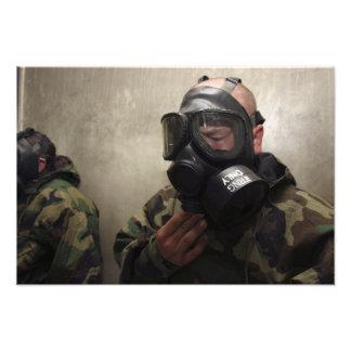 A field radio operator clears CS gas Photo Art