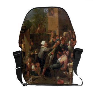 A Fight Outside a Tavern Messenger Bag