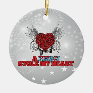A Fijian Stole my Heart Christmas Tree Ornaments