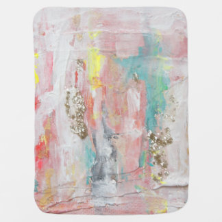 A Fine Day - Mixed Media Abstract Painting Baby Blanket