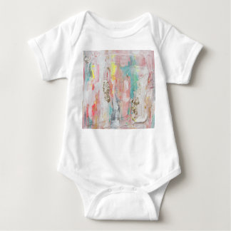 A Fine Day - Mixed Media Abstract Painting Baby Bodysuit