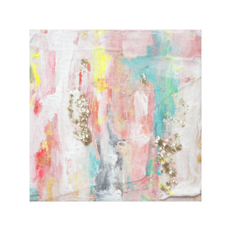 A Fine Day - Mixed Media Abstract Painting Canvas Print