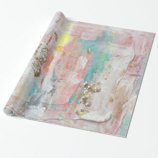A Fine Day - Mixed Media Abstract Painting Wrapping Paper