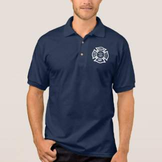 A Fire Dept EMT Polo Shirt