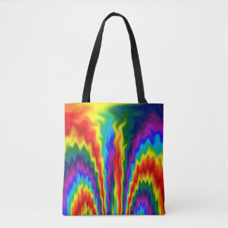 A Fire In A Rainbow Tote Bag