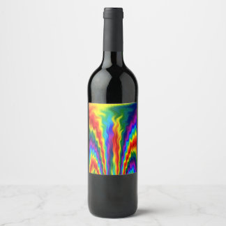 A Fire In A Rainbow Wine Label