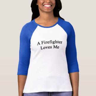 A Firefighter Loves Me T-Shirt
