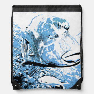 A fish called Wally Drawstring Bag