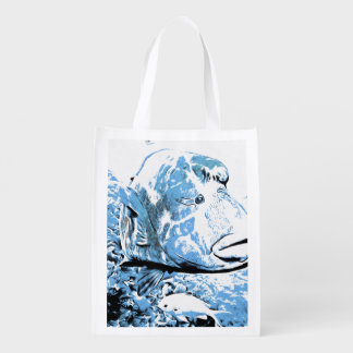 A fish called Wally Reusable Grocery Bag