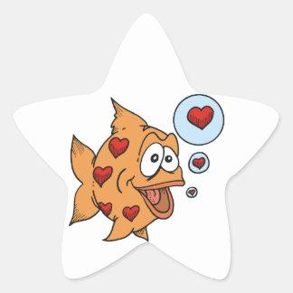 A Fish in Love - Star Sticker