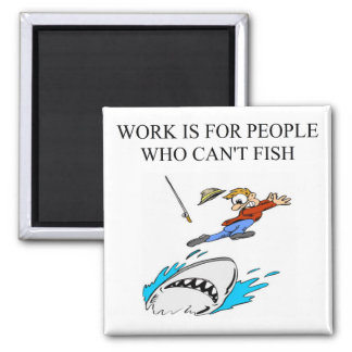 a fisherman design square magnet