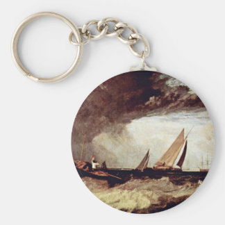 A Fisherman From Shoeburyness Preit A Flatboat Fro Basic Round Button Key Ring