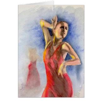 A FLAMENCO DANCER  2 CARD