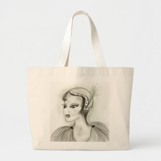 A Flapper Large Tote Bag