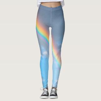 A flash of rainbow leggings