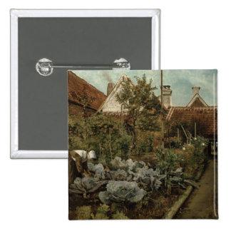 A Flemish Garden 15 Cm Square Badge