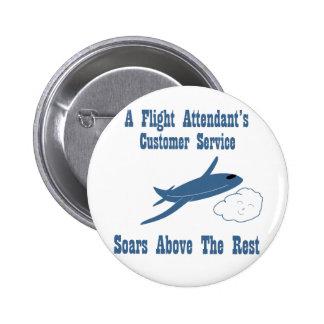 A Flight Attendant's Customer Service Soars Buttons
