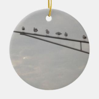 A Flock Of Seagulls Ceramic Ornament