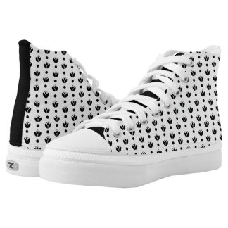 A Floral Pattern High Tops