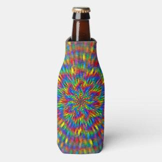 A Floral Tie Dye Bottle Cooler