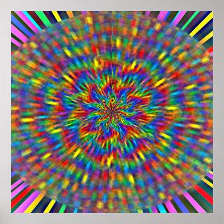 A Floral Tie Dye Poster