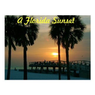 A Florida Sunset Postcard