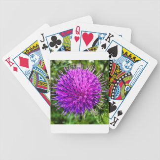 A Flower Bicycle Playing Cards