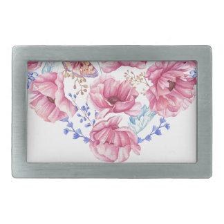A flower cannot blossom rectangular belt buckles