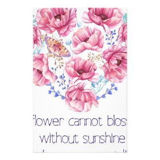 A flower cannot blossom stationery
