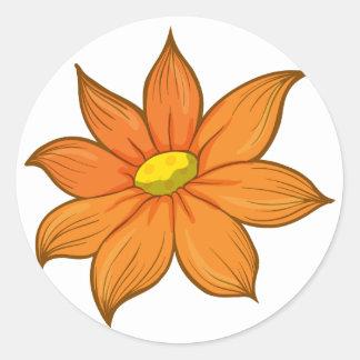 A flower classic round sticker