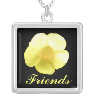 A flower for my best friend square pendant necklace