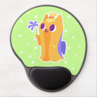 """""""A Flower For You"""" Long-haired Kawaii Yorkie Gel Mouse Pad"""