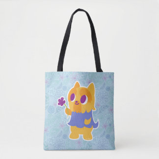 """A Flower For You"" Short-haired Kawaii Yorkie Tote Bag"
