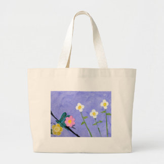 A flower garden tote bags