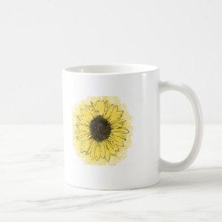 """A flower is born in mud"" inspirational coffee mug"