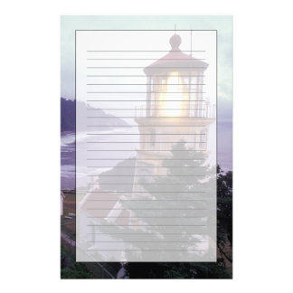 A foggy day on the Oregon coast at the Heceta Stationery Design