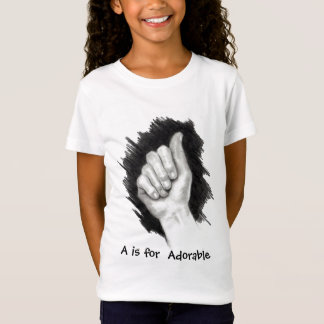 A FOR ADORABLE, ASL FINGERSPELL T-Shirt