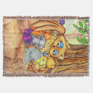 A Forest Lesson tapestry throw