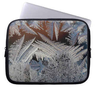 A forest of ice crystals laptop computer sleeve
