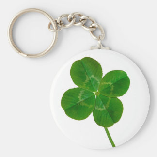 A Four Leaf Clover Basic Round Button Key Ring