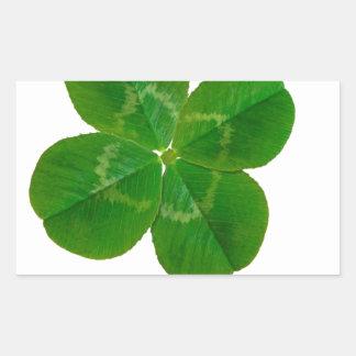 A Four Leaf Clover Rectangular Stickers