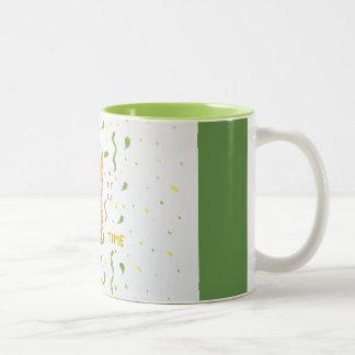 A fox who loves tea Two-Tone coffee mug