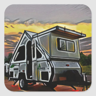 A-Frame Camper Sticker