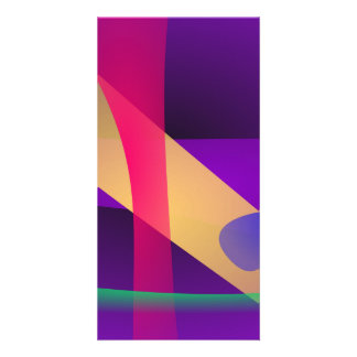 A Free Purple Abstract Space Customized Photo Card