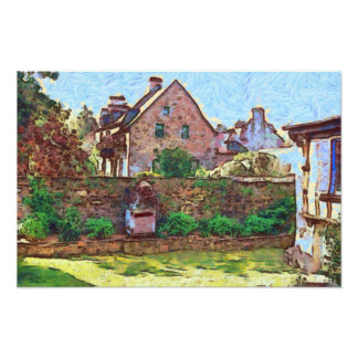 A French Village Photographic Print