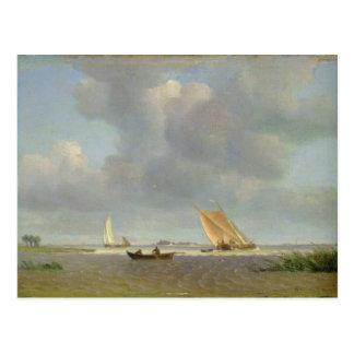 A fresh breeze on the Elbe, c.1830 Postcard